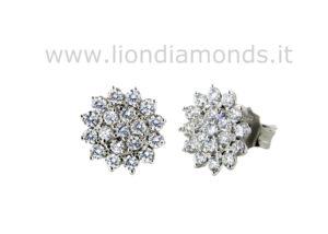 orecchini fiore diamanti