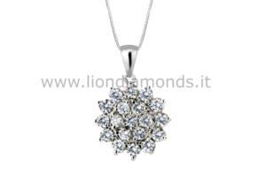 pendente fiore diamanti