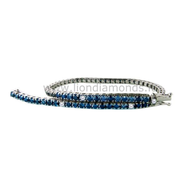 tennis diamanti blu e bianchi