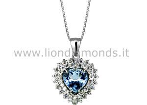pendente acquamarina e diamanti